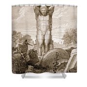 Temple At Agrigentum, Sicily Shower Curtain