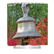 Beautiful Temple Bell At Vishwanath - Himalayas India Shower Curtain