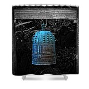 Temple Bell - Buddhist Photography By William Patrick And Sharon Cummings  Shower Curtain
