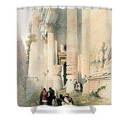 Temple Called El Khasne Shower Curtain