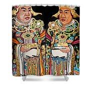 Temple Doors 01 Shower Curtain