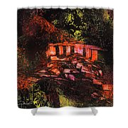 Temple In The Woods Shower Curtain