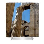 Temple Maze Of Columns Shower Curtain