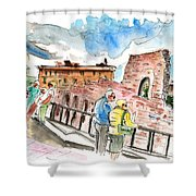 Temple Of Apollo In Siracusa Shower Curtain