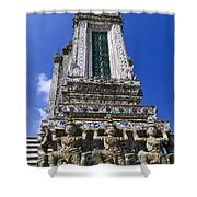 Temple Of Dawn Tower Shower Curtain