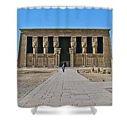 Temple Of Hathor Near Dendera-egypt Shower Curtain by Ruth Hager
