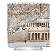 Temple Of Hatsepsut In Egypt Shower Curtain