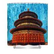 Temple Of Heaven Shower Curtain