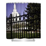 Temple Of Idaho Falls Shower Curtain