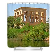Temple Of Isis Among The Trees Shower Curtain