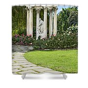 Temple Of Love Statue At The Rose Garden Of The Huntington. Shower Curtain