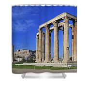 Temple Of Olympian Zeus Athens Greece Shower Curtain