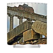 Temple Of Saturn In The Roman Forum Shower Curtain