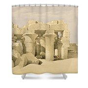 Temple Of Sobek And Haroeris At Kom Ombo Shower Curtain