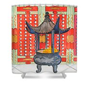 Temple Offerings Shower Curtain