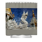 Temple Reflection Shower Curtain