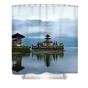 Pura Ulun Danu Bratan Shower Curtain