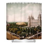 Temple Square Salt Lake City 1899 Shower Curtain
