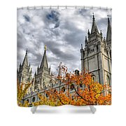 Temple Trees Shower Curtain