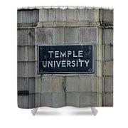 Temple U Shower Curtain