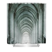 Temple Walker Shower Curtain by Carlos Caetano