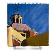 Templo De San Roque, Mexico Shower Curtain