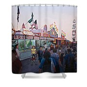 Temptation In Paradise First Version Shower Curtain