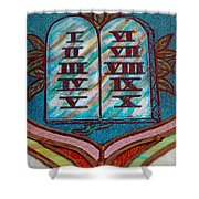 Ten Commandments Glass Shower Curtain