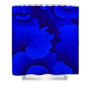 Ten Minute Floral In Blue 122612 Shower Curtain