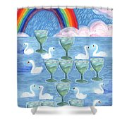 Ten Of Cups Shower Curtain