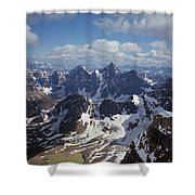 T-703502-ten Peaks From Summit Of Mt. Lefroy Shower Curtain