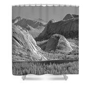 6m6552-bw-tenaya Lake Yosemite Bw  Shower Curtain