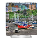 Tenby Harbour In Summer 4 Shower Curtain