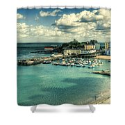 Tenby Harbour Pembrokeshire Shower Curtain