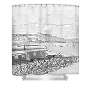 Tenby Old Lifeboat Station Shower Curtain