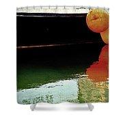 Harbor Boat Scene The Tenders Shower Curtain