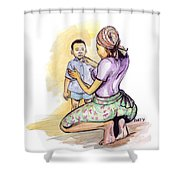 Tender Mother Shower Curtain