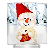 Tender Snowman Shower Curtain