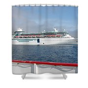 Tendered Ship Shower Curtain