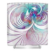 Tendrils 02 Shower Curtain by Amanda Moore
