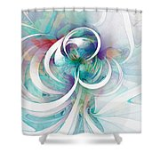 Tendrils 03 Shower Curtain by Amanda Moore