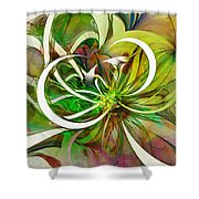 Tendrils 15 Shower Curtain by Amanda Moore