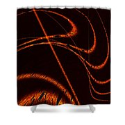 Tendrils Of Fire Shower Curtain