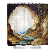 Teniers' Vista From A Grotto Shower Curtain