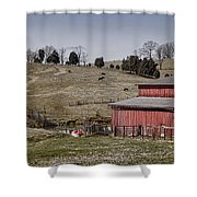 Tennessee Farmstead Shower Curtain by Heather Applegate
