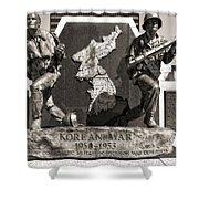 Tennessee Korean War Memorial Shower Curtain by Dan Sproul