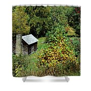 Tennessee Mountain Cabin Shower Curtain