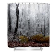 Tennessee Mountain Frost Shower Curtain