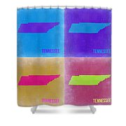 Tennessee Pop Art Map 2 Shower Curtain by Naxart Studio