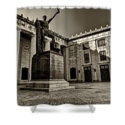 Tennessee War Memorial Black And White Shower Curtain